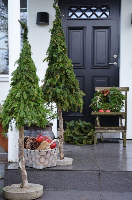 Der Garten ist auch zu sehen! Die schönste Weihnachtsdekoration für draußen