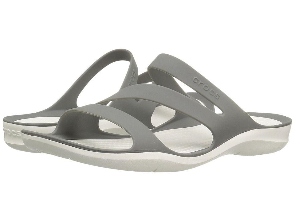 newest ca790 19743 Crocs Swiftwater Sandal (SmokeWhite) Womens Sandals