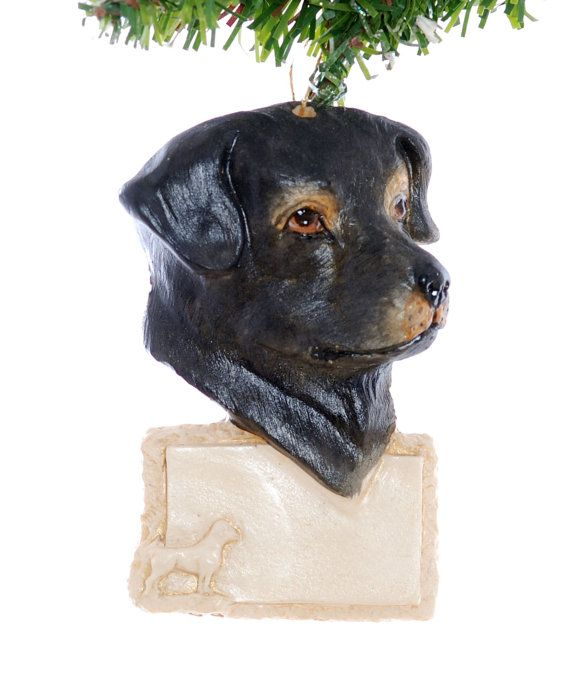 Personalized Rottweiler Christmas Ornament  by Christmaskeeper