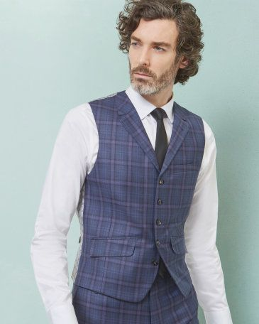 Sterling checked wool waistcoat