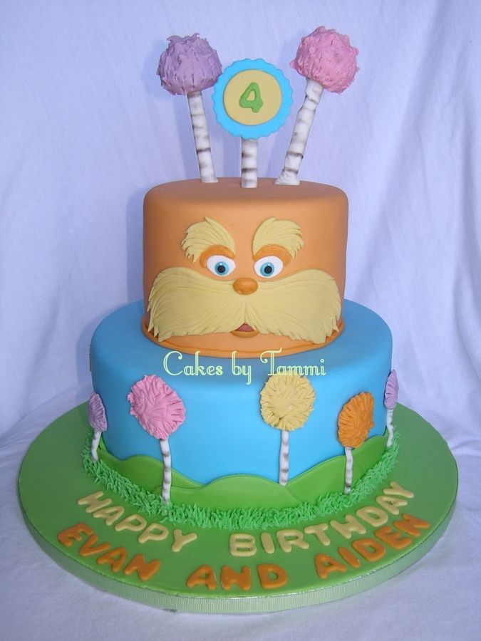 lorax+cake | lorax for my girlfriend s twin boys for whom i ve done a birthday cake ...