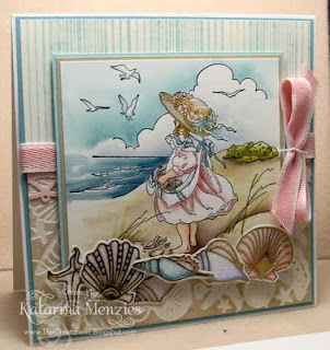 Stamps Happen - Girl at Beach