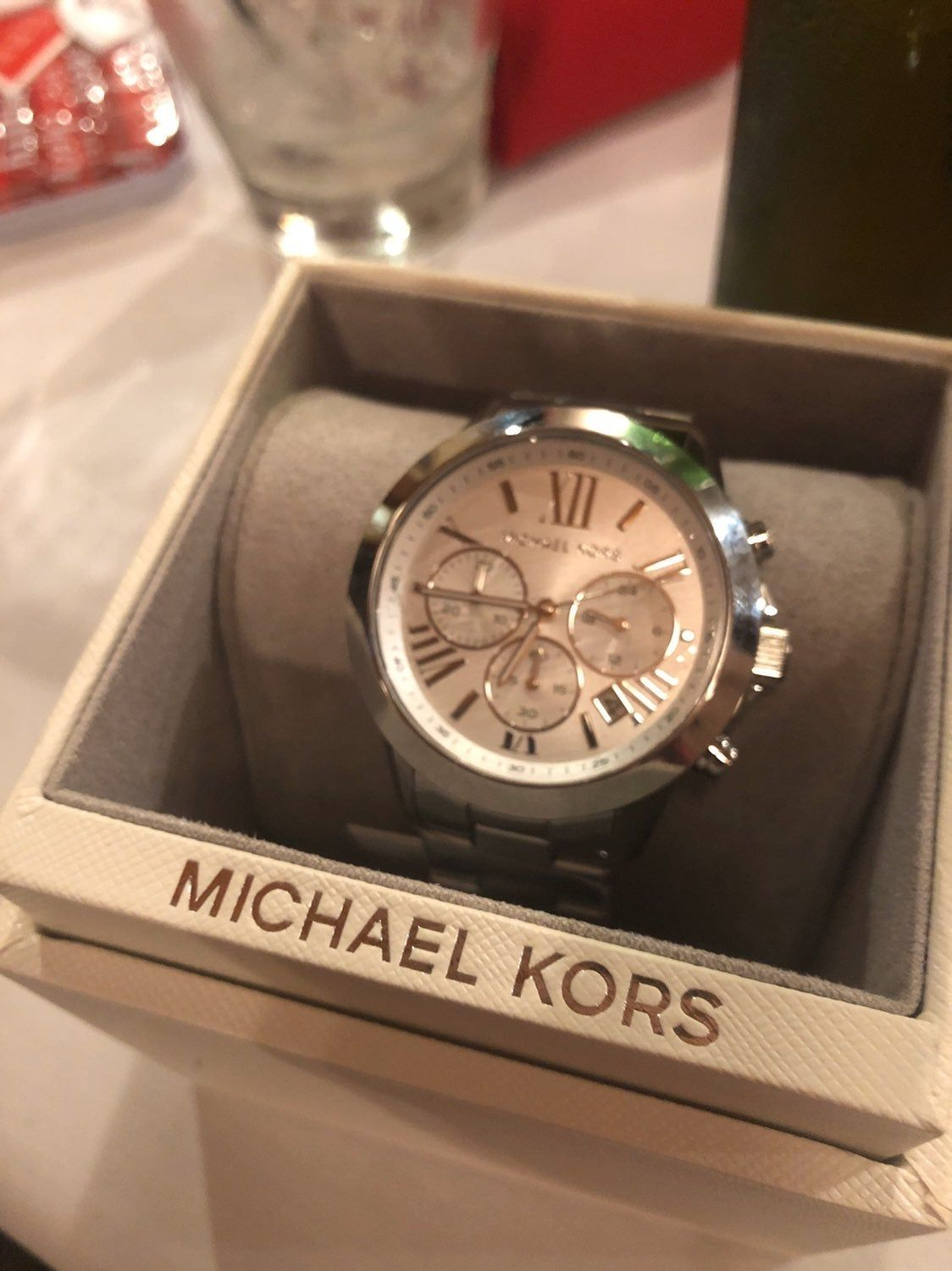 Brand new. Never worn. Comes with box. Michael kors