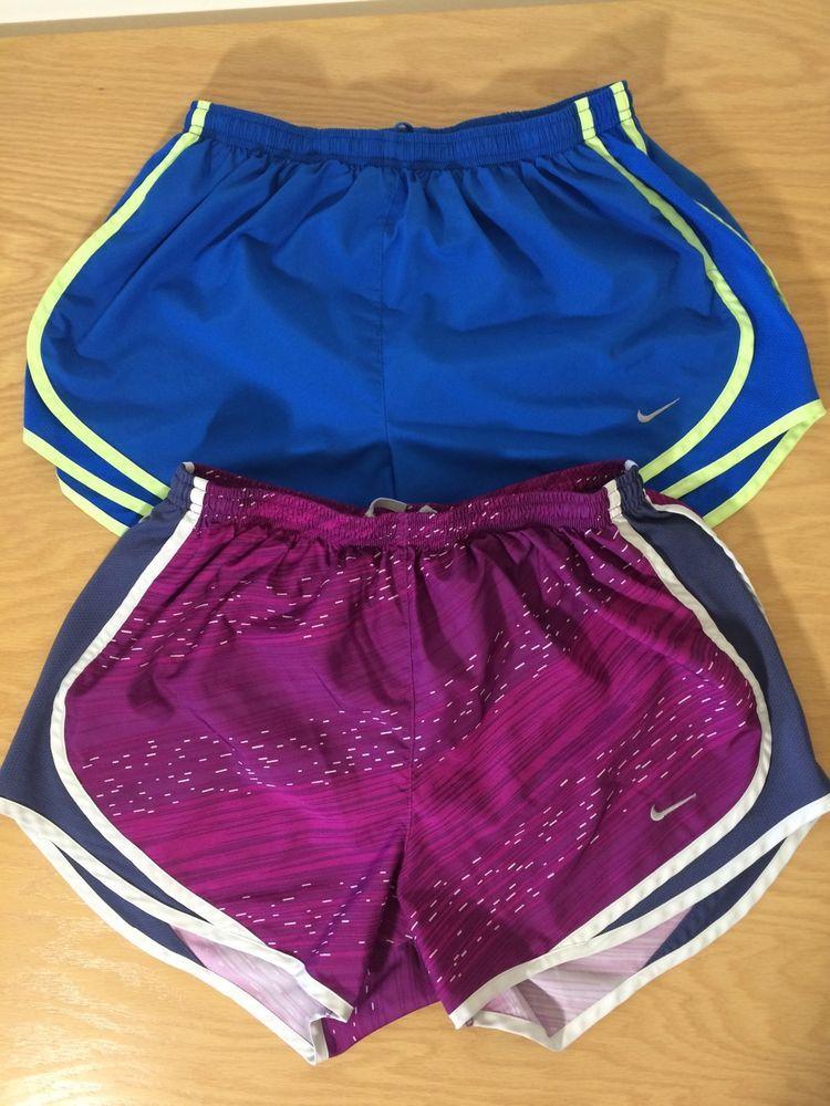 Lot of 2 nike dri fit womens running tempo shorts built