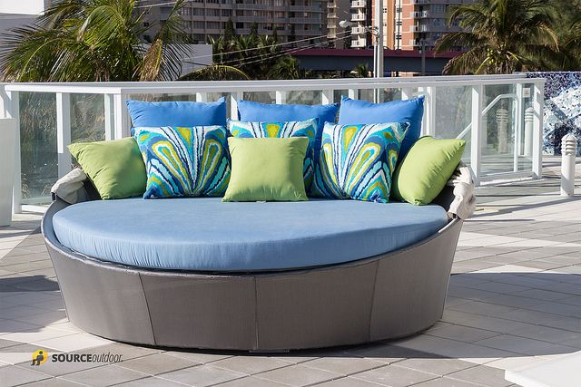 Bursting With Blues And Greens Our Source Outdoor Aqua Daybed