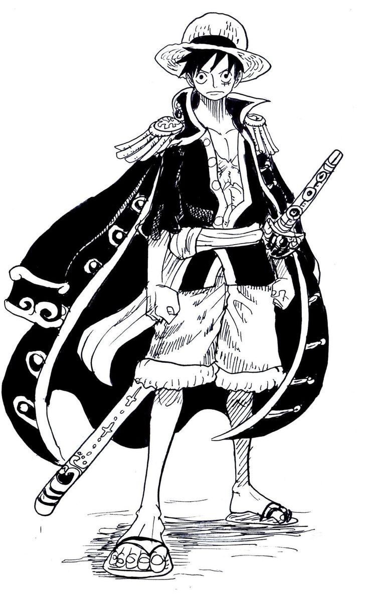 Pin Oleh Roxane Pisseau Di One Piece Zoro Sketsa Gambar