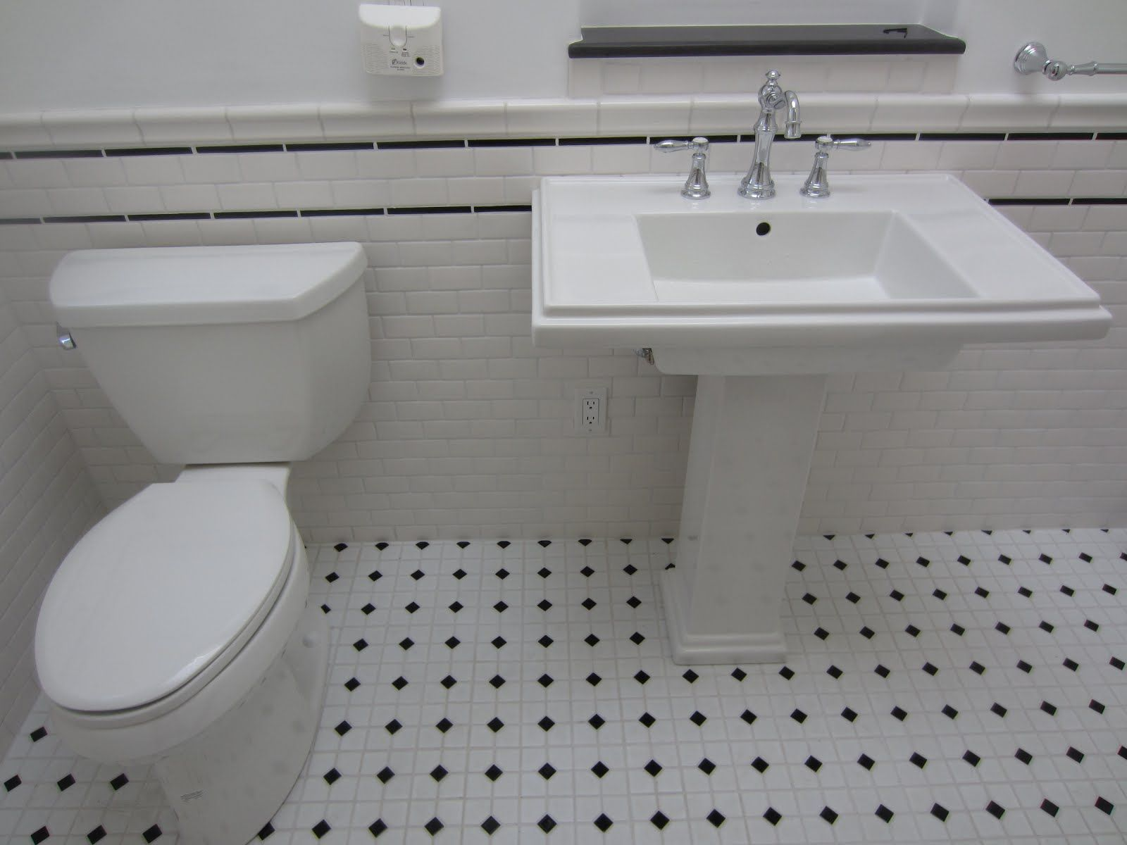 Black And White Retro Bathrooms san diego roofer and general contractor: vintage subway tile