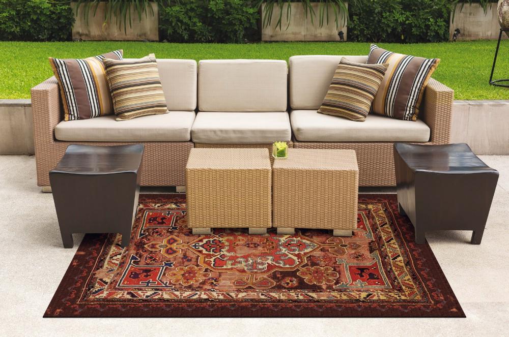 tapis exterieur style oriental en