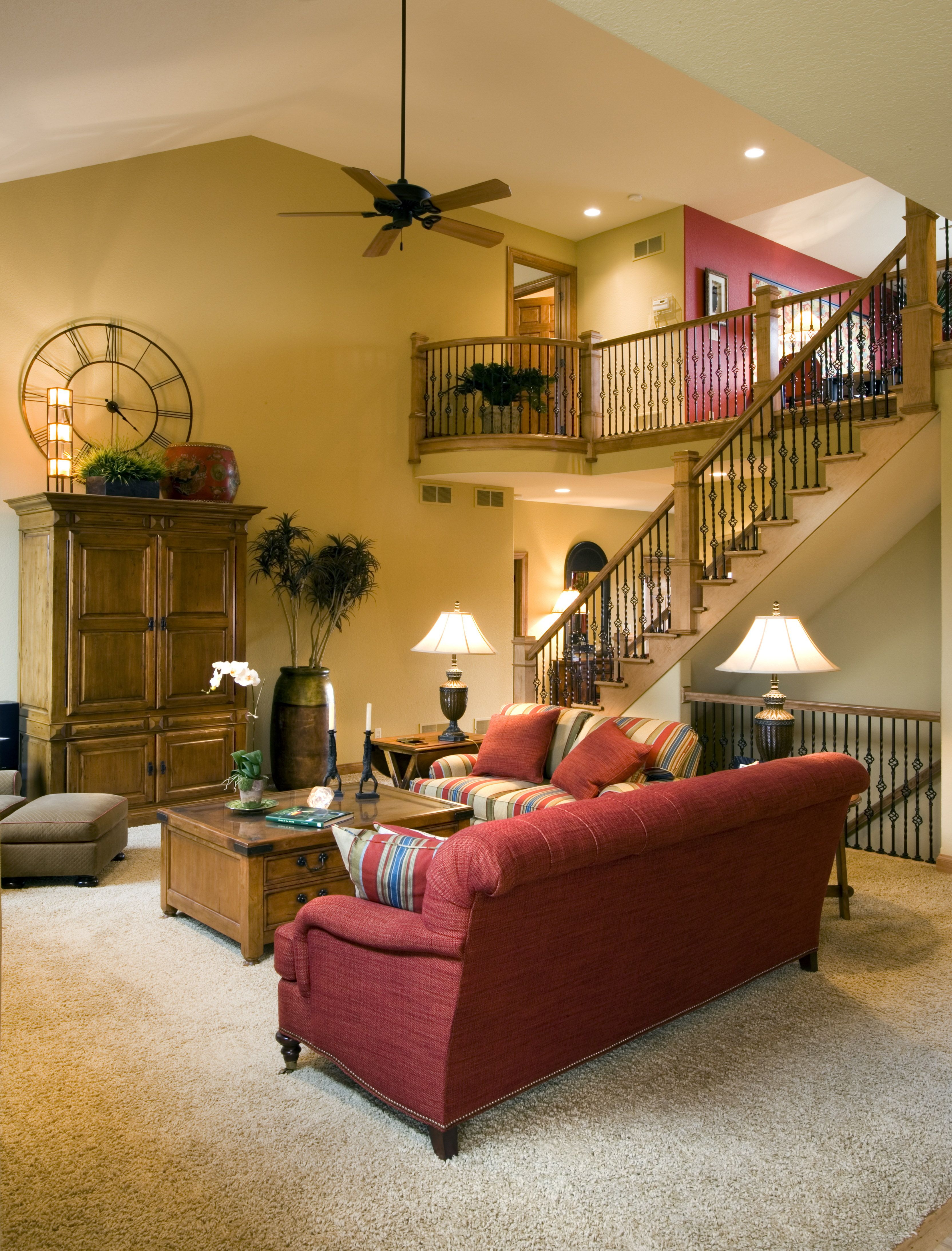 Best Great Room Featuring An Open Staircase To Both The Upper 400 x 300
