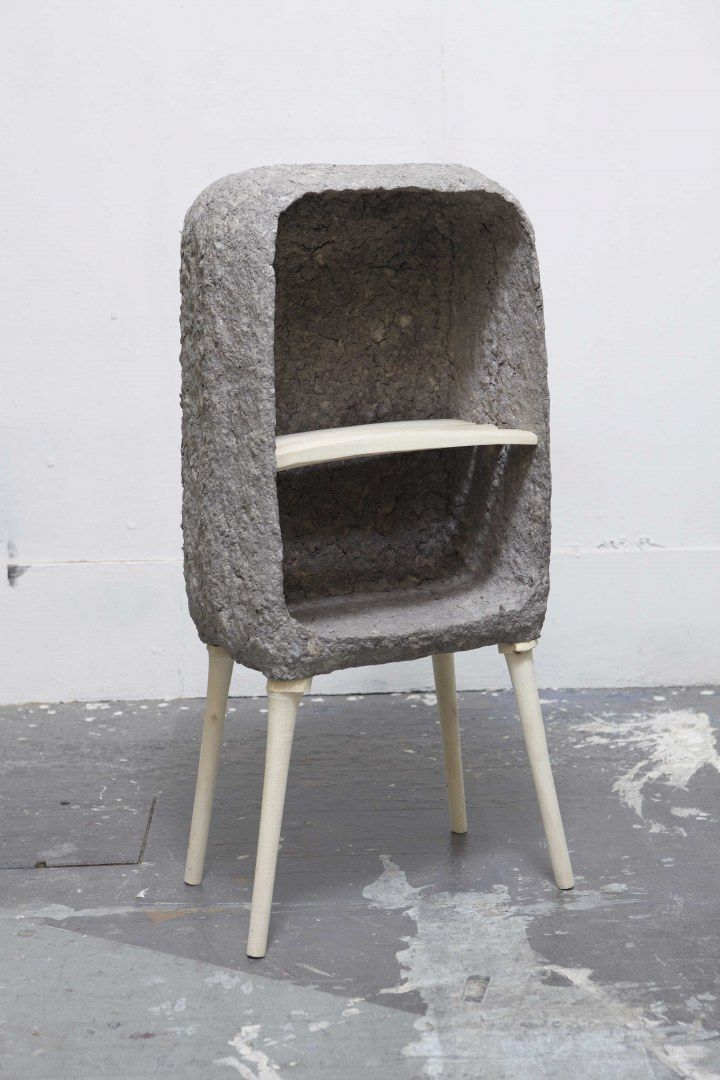 Recycled Paper Pulp Moulded Cabinet Concrete Furniture