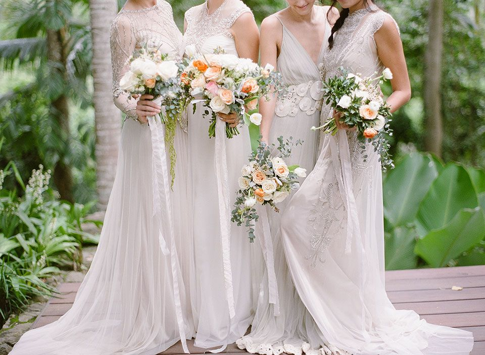 Semara Luxury Resort Villa Bali Destination Weddings Wedding Photography Bridesmaids