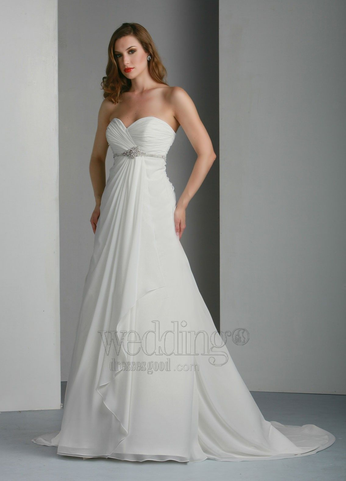 Bridal gowns mermaid styleivory cheap wedding dress