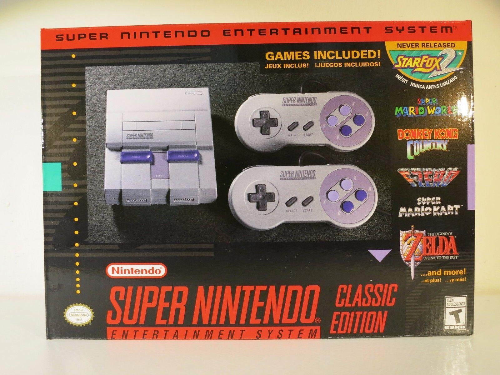 Super Nintendo Entertainment System Super Nes Classic Edition Nib
