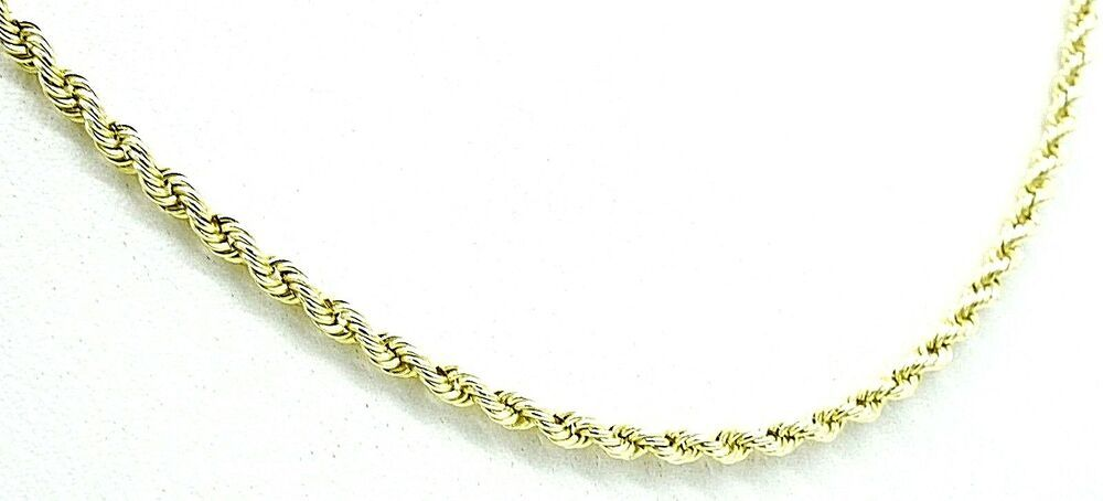 05297876b3cc2 14k Solid Gold Rope Link Chain 9.3 Grams 2 mm 18