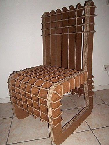 Les Cartons De Corinne Meubles En Carton Chaise En Carton Mobilier De Salon Meubles En Carton