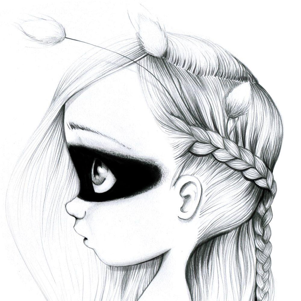 toile dco pour chambre de petite fille - Dessin De Petite Fille