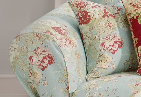 Tremendous Ballad Bouquet By Waverly One Piece Sofa Slipcover Alphanode Cool Chair Designs And Ideas Alphanodeonline