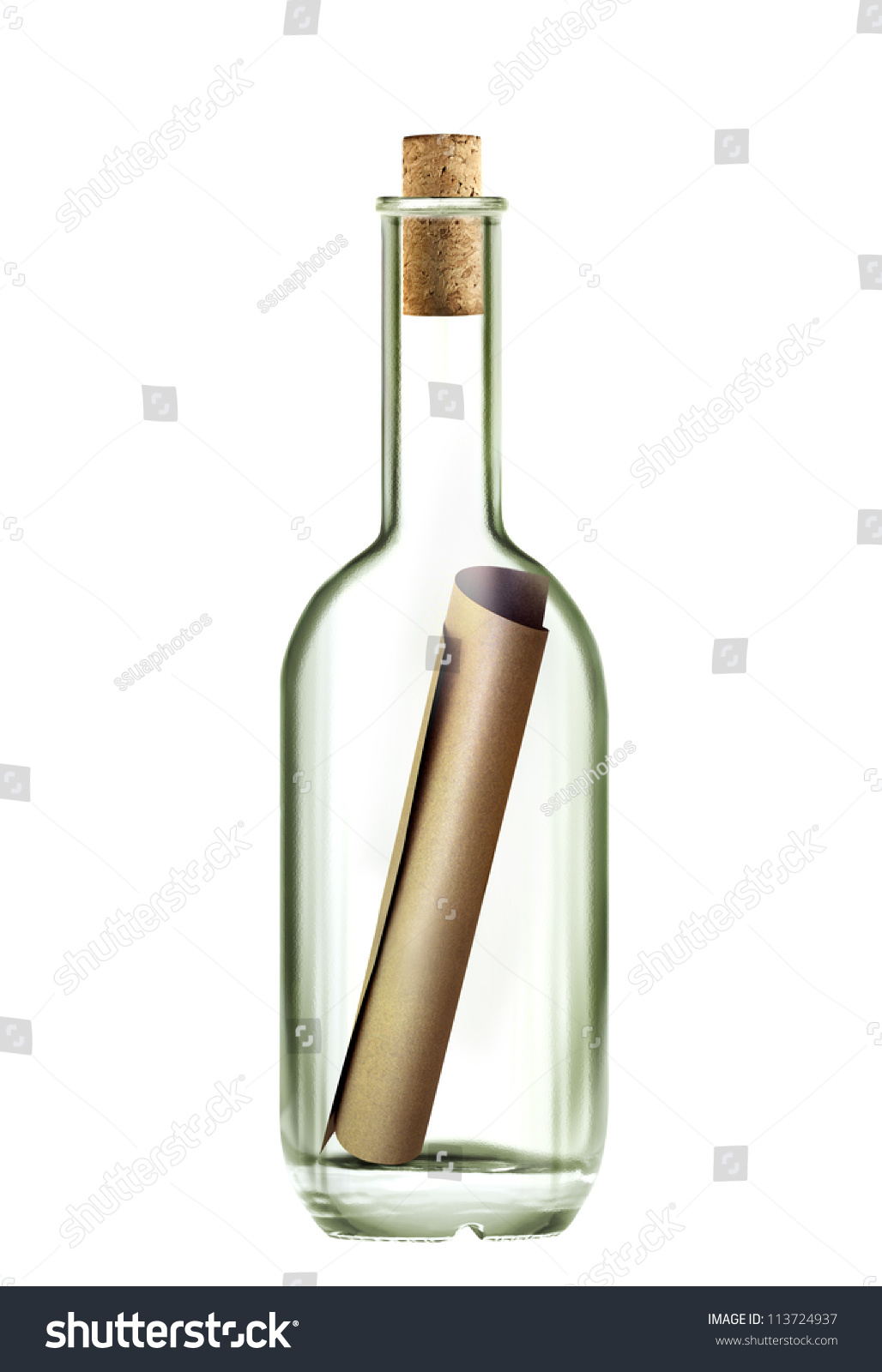 Ancient Scroll Message In The Bottle On White Background With Path Royalty Free Images Stock Photography Photo Ancient Scroll Message In A Bottle Bottle