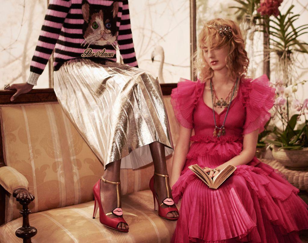 dress - Fall pre gucci ad campaign video