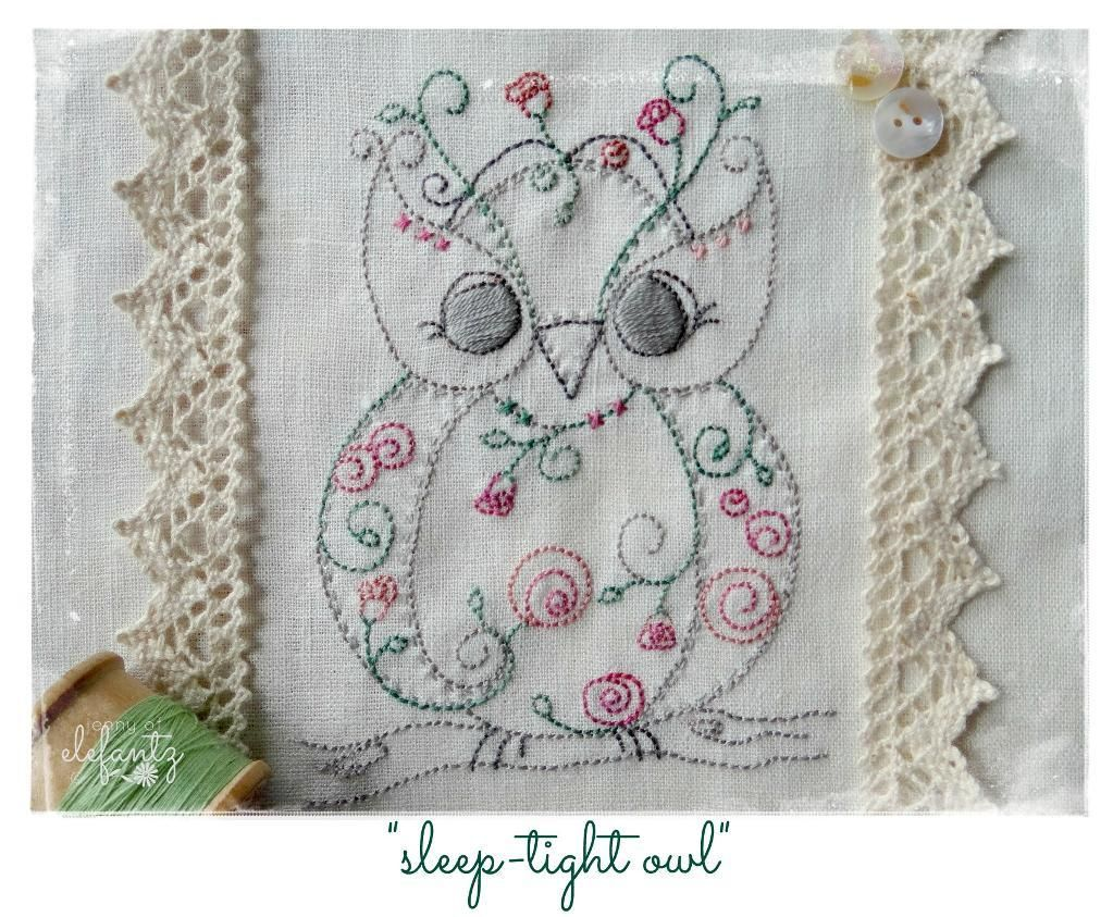 Sleep tight owl sleep tight embroidery and owl