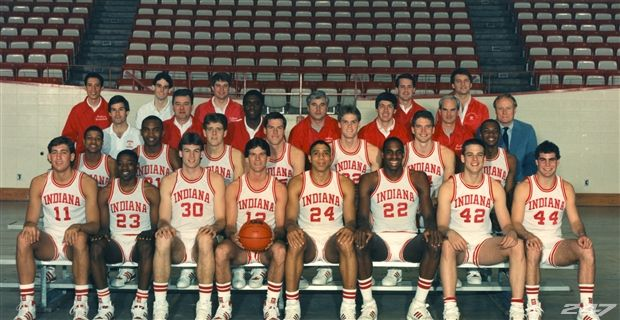 Iu Basketball 1987 The 1987 Iu Men S Basketball Team The Last To Win A National Basketball Team Pictures Indiana Basketball Iu Hoosiers