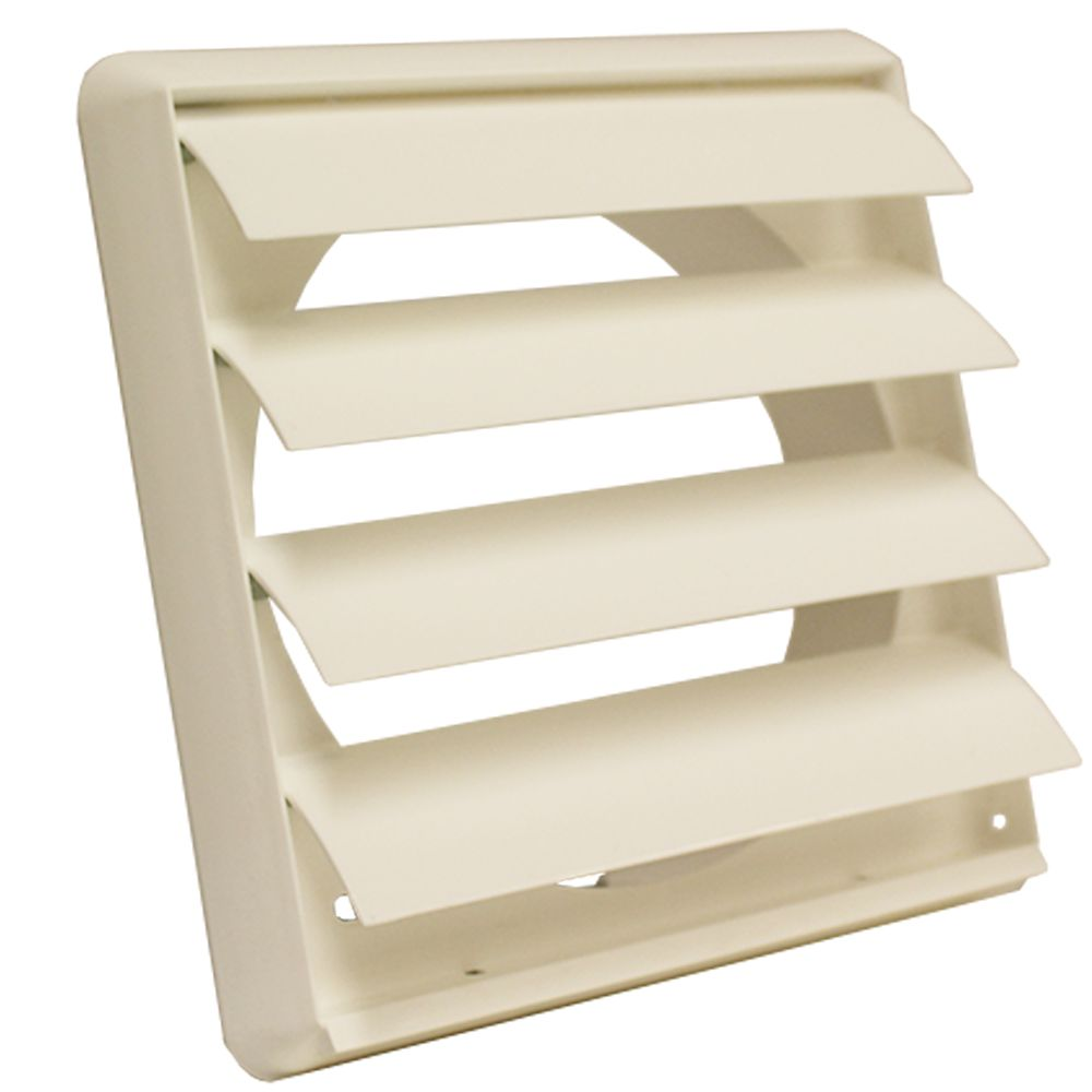 Gravity Grille 150mm White External Vent Cover Grilles Vent Covers Polypropylene Plastic