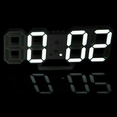 Digital 3D LED Wall//Desk Clock Snooze Alarm Big Digits Auto Brightness USB 2019