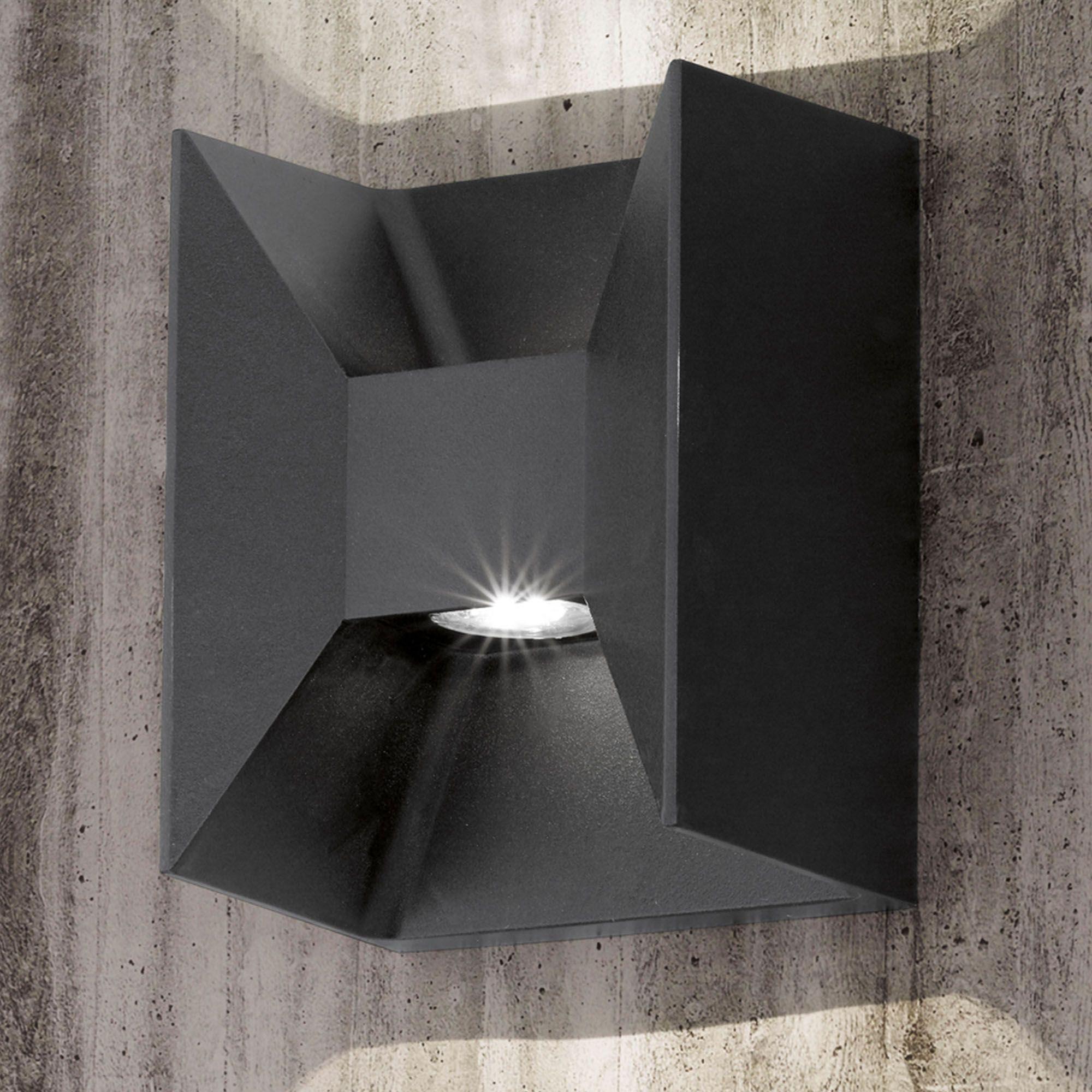 Anthracite eglo morino updown aluminium led ip square exterior