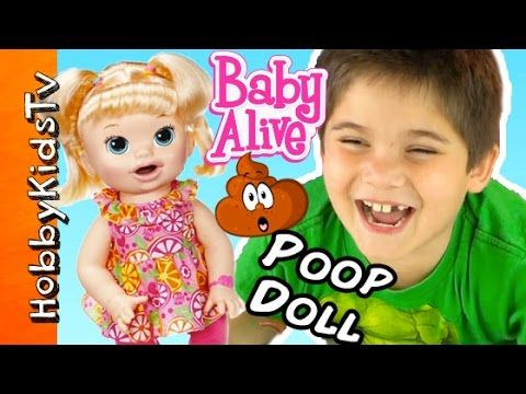 Baby Alive Pooping Talking Doll Play Doh Chocolate Candy Fun Hobbypig Toy Review Hobbykidstv Baby Alive Play Doh Fun Baby