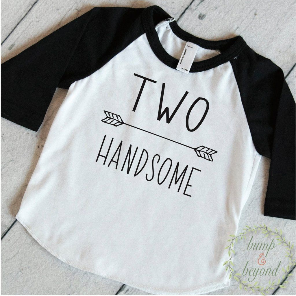 Birthday Shirt 2 Year Old 2nd Boy Two Handsome Second 243