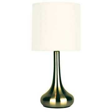 34 5cm Lola 3 Stage Touch Lamp Antique Brass Oriel Lighting Touch Table Lamps Touch Lamp Table Lamp