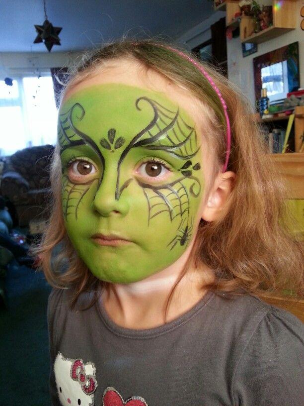 Webby witch! | Hexe schminken kind, Kinderschminken