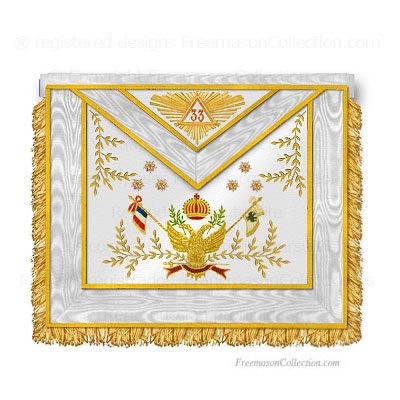33° Degree Scottish Rite Apron  | Masonic aprons/regalia
