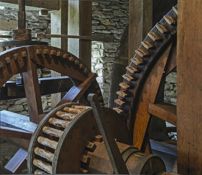 Grist mill wheels  By: Gillie Bengough