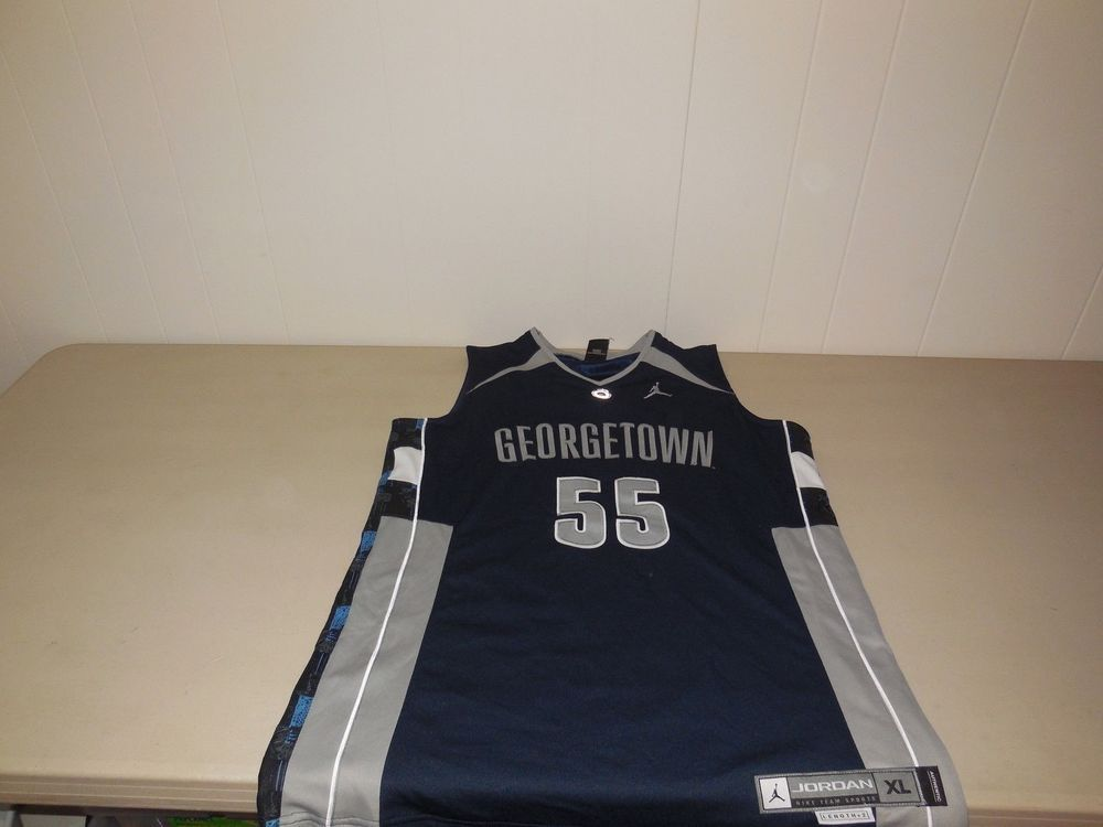 check out c7d30 56130 Nike Georgetown Hoyas Basketball Jersey Michael Jordan Sewn ...