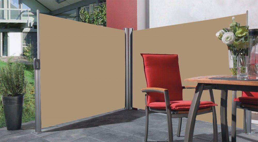 Stores paravent de terrasse r tractable double cloison extensible pour ext ri - Cloison exterieur terrasse ...