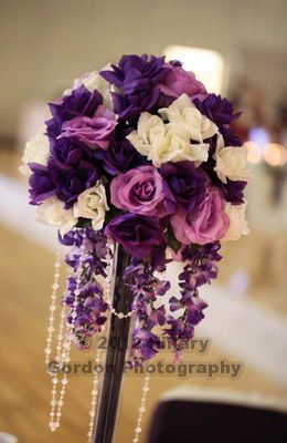 Great Wedding Centerpiece Ideas  Tall Skinny Vases, Sand, Jewels, And Silk  Flowers