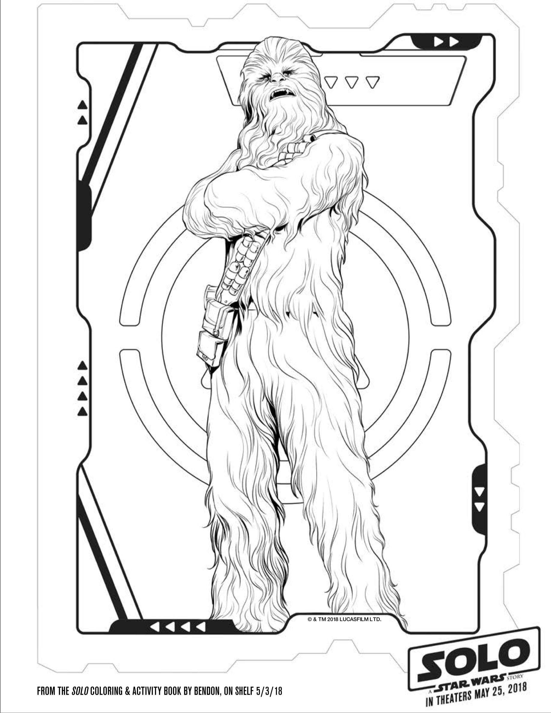 SOLO: A STAR WARS STORY Coloring and Activity Pages - Simple