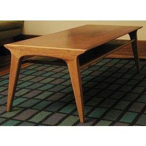 Great Vintage Mid Century DANISH MODERN DREXEL PROFILE Van Koert Coffee Table  Bench For Sale