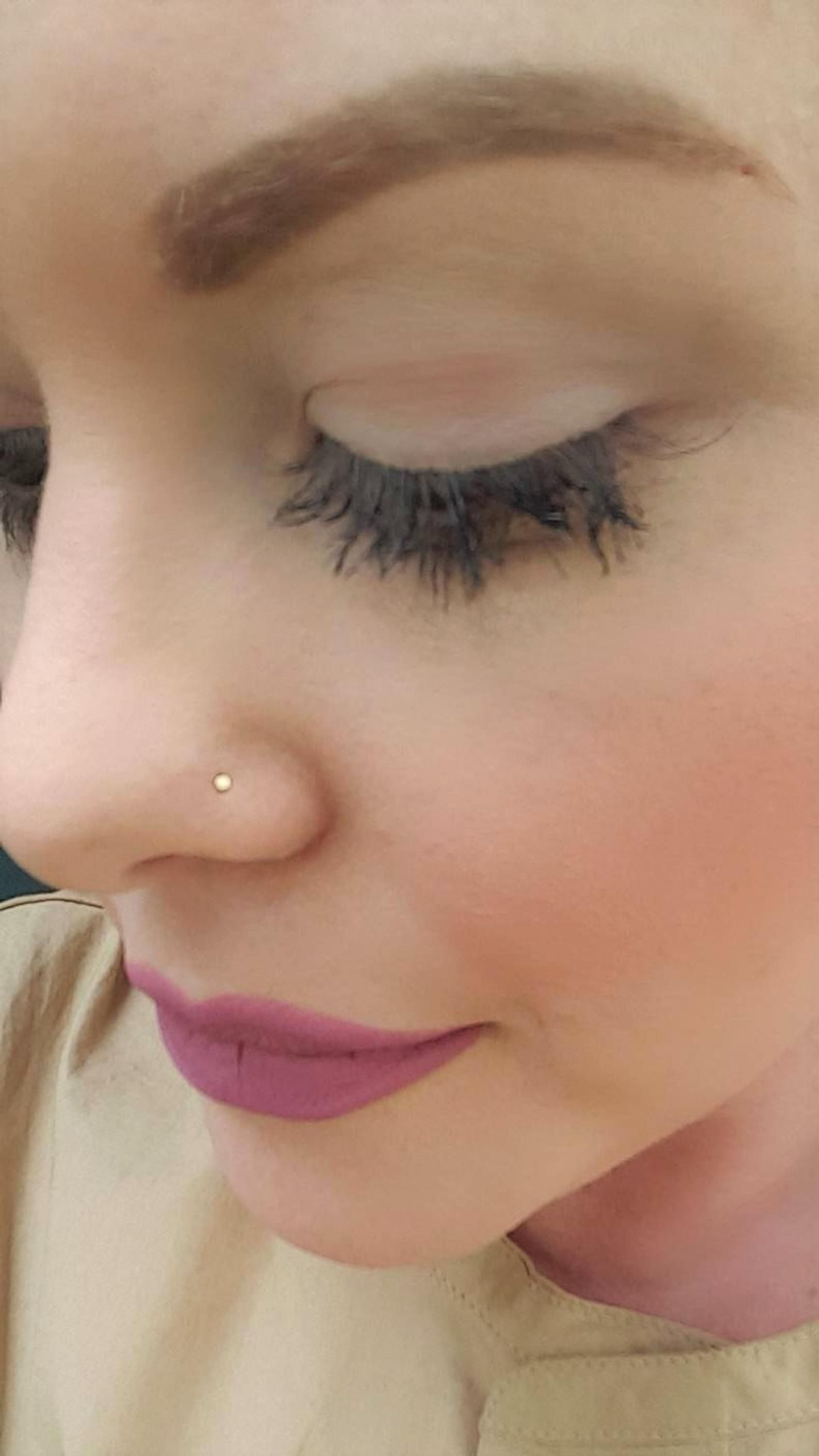 Teeny Tiny Flat Gold Nose Stud 14k Gold Filled Nose Screw Etsy