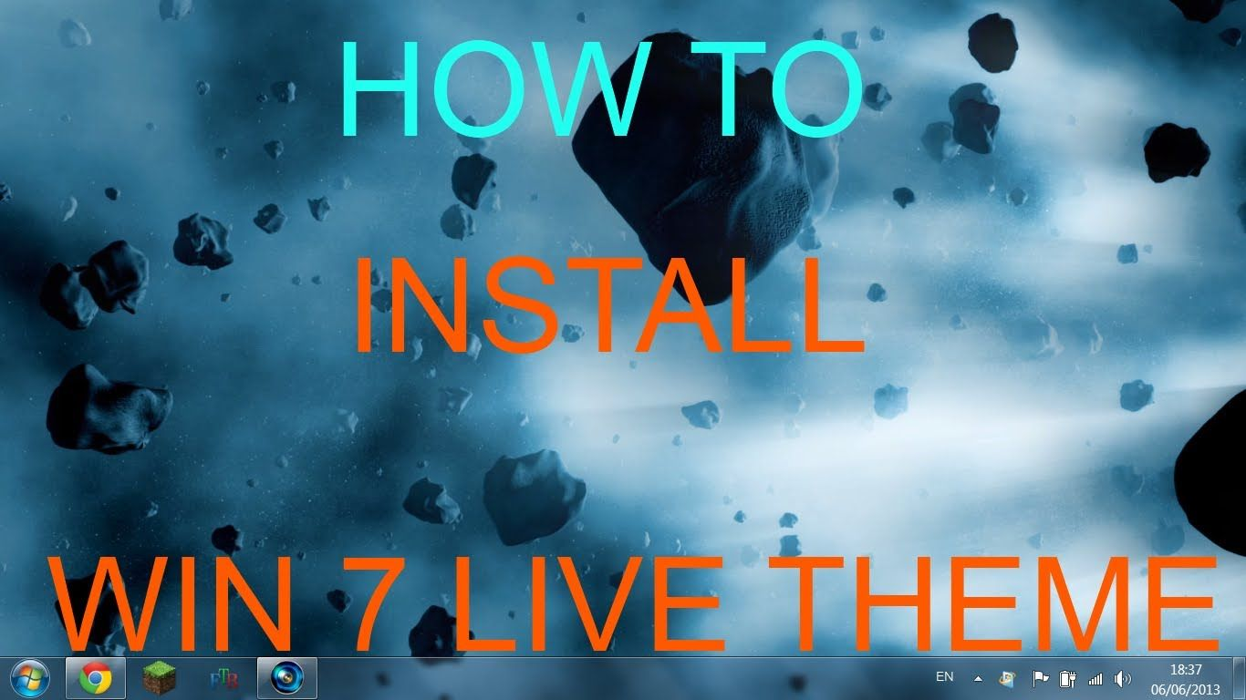 How To install live wallpapers on windows 7 - YouTube