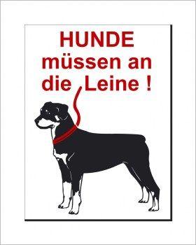 Schild Hunde Müssen An Die Leine Hundeschilder