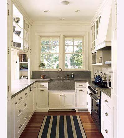 Cocinas Galera Maximizar Espacio  Cocinas Pequeñas  Pinterest Classy Kitchen Design For U Shaped Layouts Inspiration Design