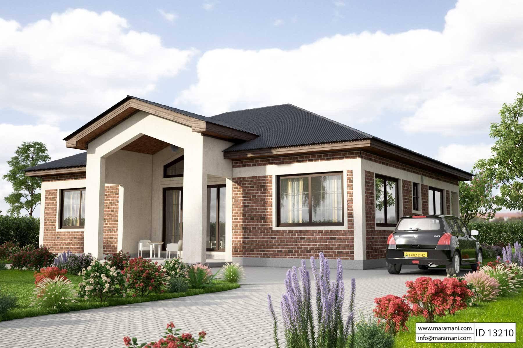 3 Bedroom House Plan  ID 13210 in 2019  designs  Simple