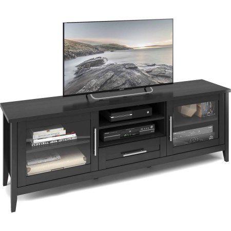 Corliving Tjk 604 B Jackson Extra Wide Tv Bench In Black Wood Grain