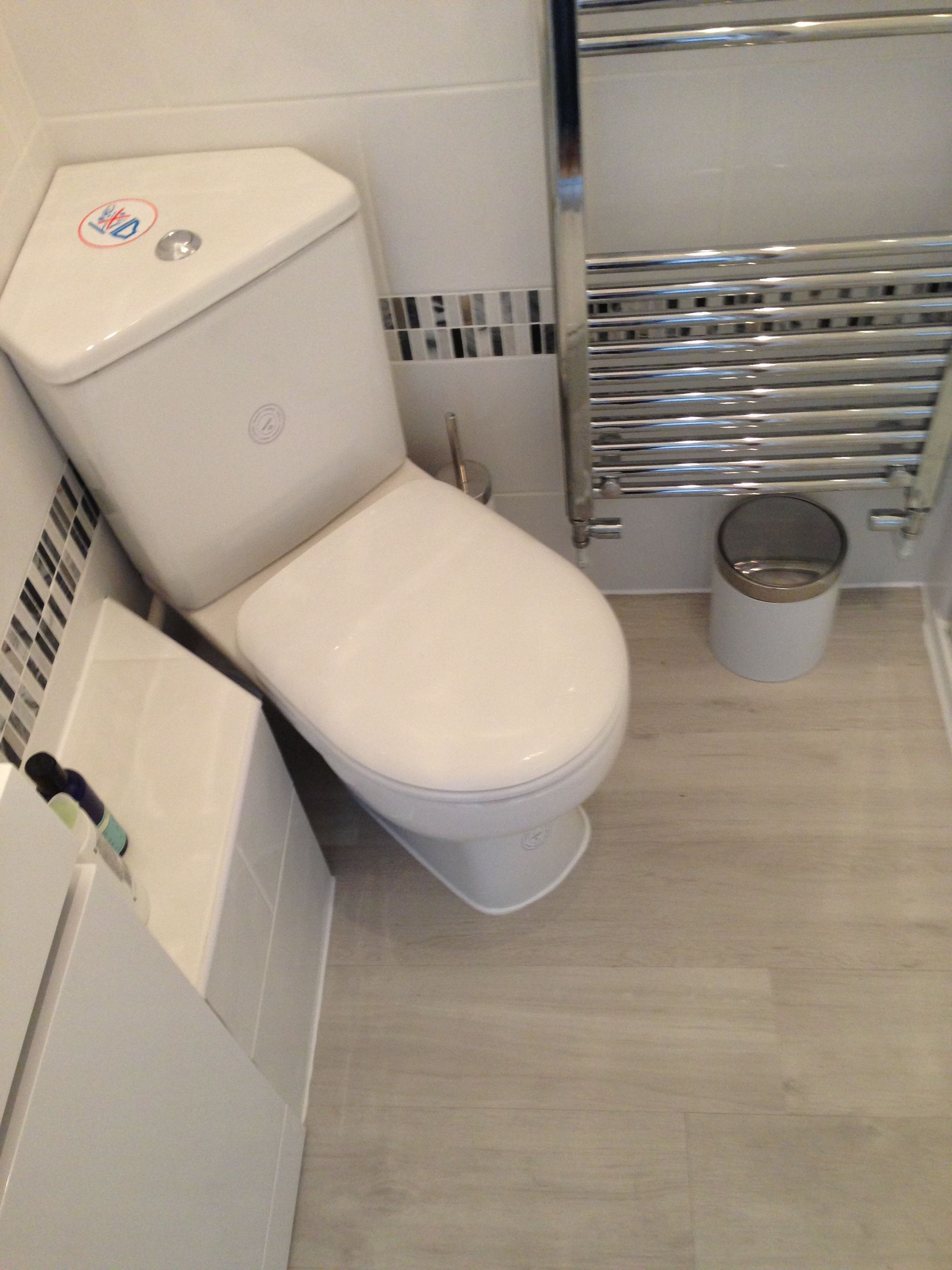 A Corner Wc With Concealed Saniflo To The Side There Is Always A Layout That Works Bathroom Installation Toilets And Sinks Corner Toilet