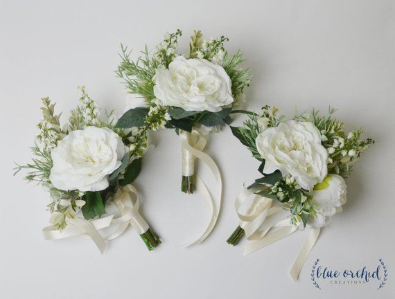 Bridesmaid Bouquet, Boho Bridesmaid Bouquet, Greenery Bouquet, Greenery Bridesmaid Bouquet, Wedding Bouquet, Wedding Flowers, White Bouquet #weddingbridesmaidbouquets