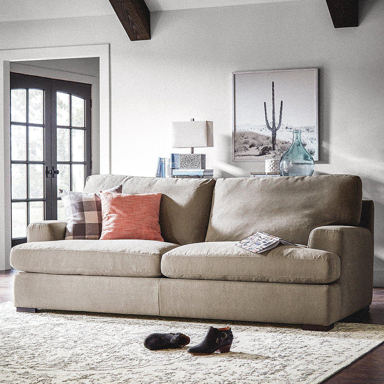 Amazon.com: Stone & Beam Lauren Down Filled, Overstuffed Sofa, 89\