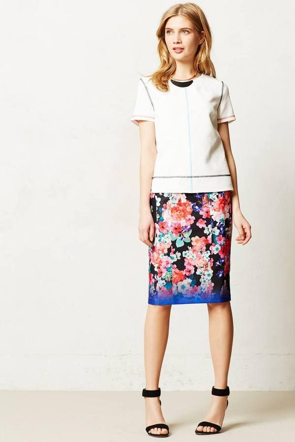 0491169bb7e7 Near Wild Pencil Skirt   Lu's a flower girl!   Floral pencil skirt ...