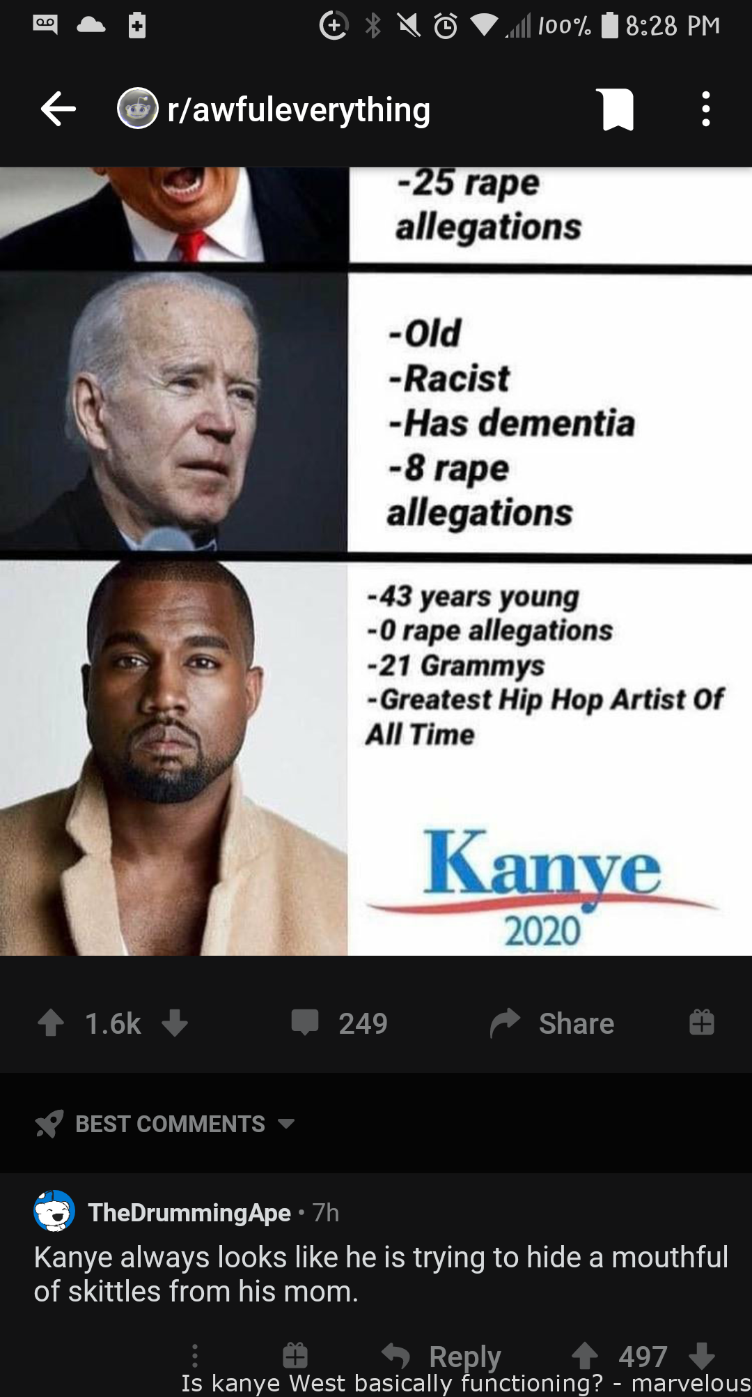 Is Kanye West Basically Functioning Marvelous Mockery In 2020 Funny Insults Funny Inspirational Quotes Funny Quotes